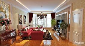 201888平米欧式小户型客厅装修设计效果图