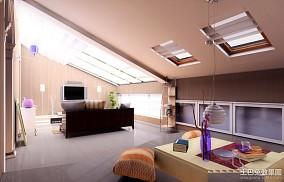 面积133平复式客厅美式效果图片欣赏