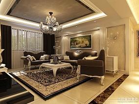 精美面积80平小户型客厅欧式装饰图