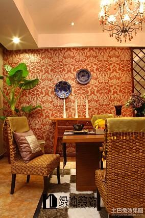 2018精选73平米二居餐厅东南亚装修图片