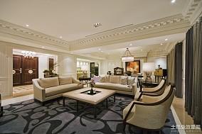 热门109平方三居客厅欧式装修实景图