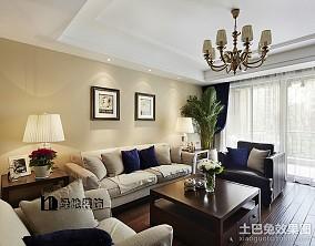 热门大小99平欧式三居客厅效果图片