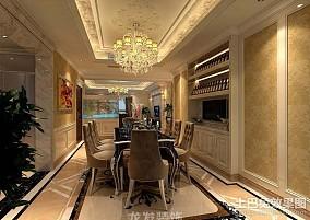 热门面积111平欧式四居餐厅装修欣赏图片大全