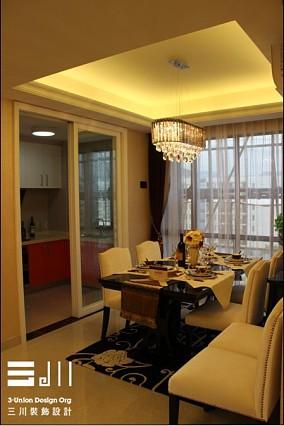 精选面积128平现代四居餐厅装饰图