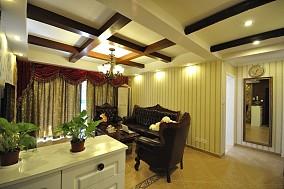 面积98平田园三居客厅装修设计效果图