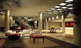 酒店大堂3D效果图