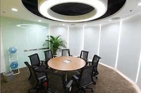 中型圆桌会议室图片