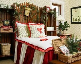 田园别墅卧室装修效果图片欣赏