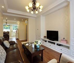 精美70平米美式小户型客厅实景图