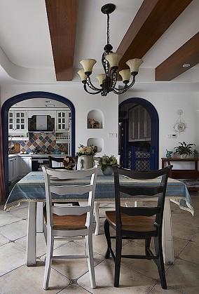 精美81平米地中海小户型餐厅装修设计效果图片