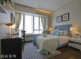 精选面积105平简约三居卧室欣赏图片