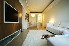 精美78平米现代小户型客厅装修实景图片
