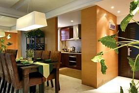 精选面积99平东南亚三居餐厅实景图