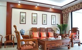 精选一居客厅中式设计效果图