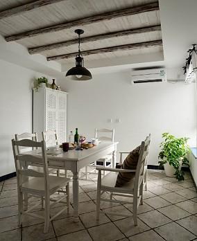 精选85平米地中海小户型餐厅实景图片