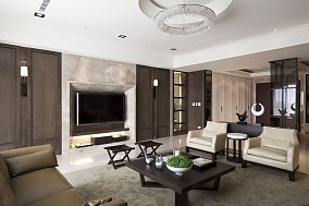 面积72平中式二居客厅实景图片大全
