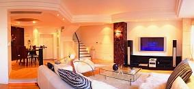 精美面积139平复式客厅现代实景图