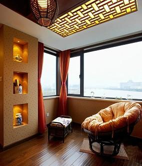 热门面积71平中式二居阳台装修效果图片大全