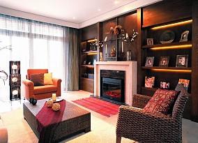 热门面积81平小户型客厅东南亚实景图