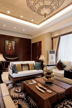 2018别墅客厅东南亚装修实景图片欣赏