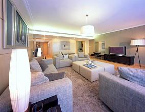 复式客厅日式装修实景图片欣赏